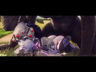 Taking Widowmaker's Ass Without Mercy  Not That She Minds[monster]3D Bestiality