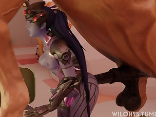 Futa Widowmaker Getting Railed By A Horse (wiloh95)[horse]3D Bestiality