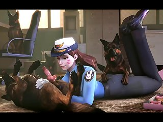 To Protect And Serve (the Firebrand & Noname55)[dog Wolf]3D Bestiality