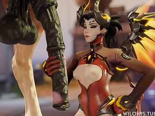 Mercy Stroking Some Horsecock (wiloh95)[horse]3D Bestiality
