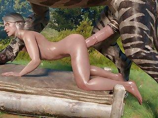 Ciri Fucked By A Fiend (niodreth)[monster]3D Bestiality