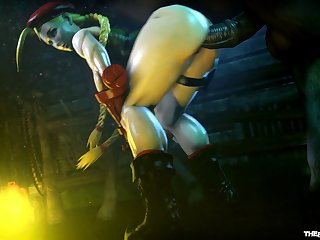 Cammy White Milking A Horse [street Fighter](the Firebrand)[horse]3D Bestiality