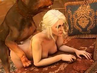 Ciri Getting Pounded From Behind (darktronicksfm)[dog Wolf]3D Bestiality